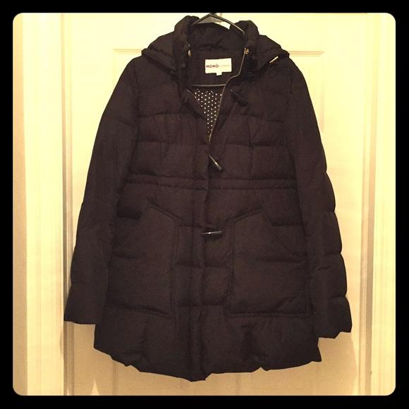 Hooded Toggle Down Parka Coat Pregnancy Winter Jacket